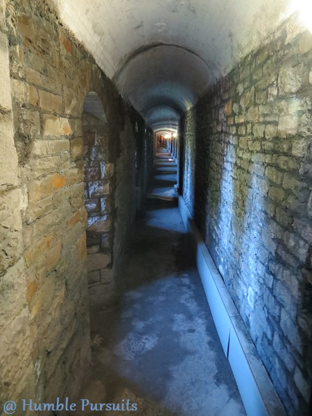 Castle Wall Tunnels, Cardiff Castle, Cardiff, Wales, UK