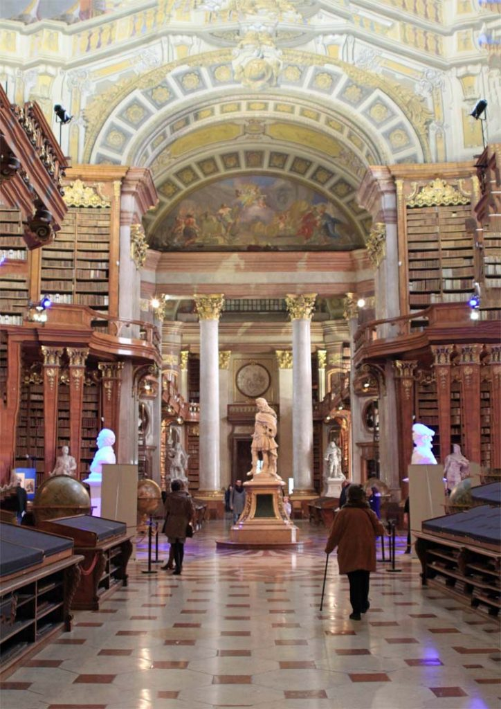 Old Library, State hall of the Austrian National Library, Vienna, Austria