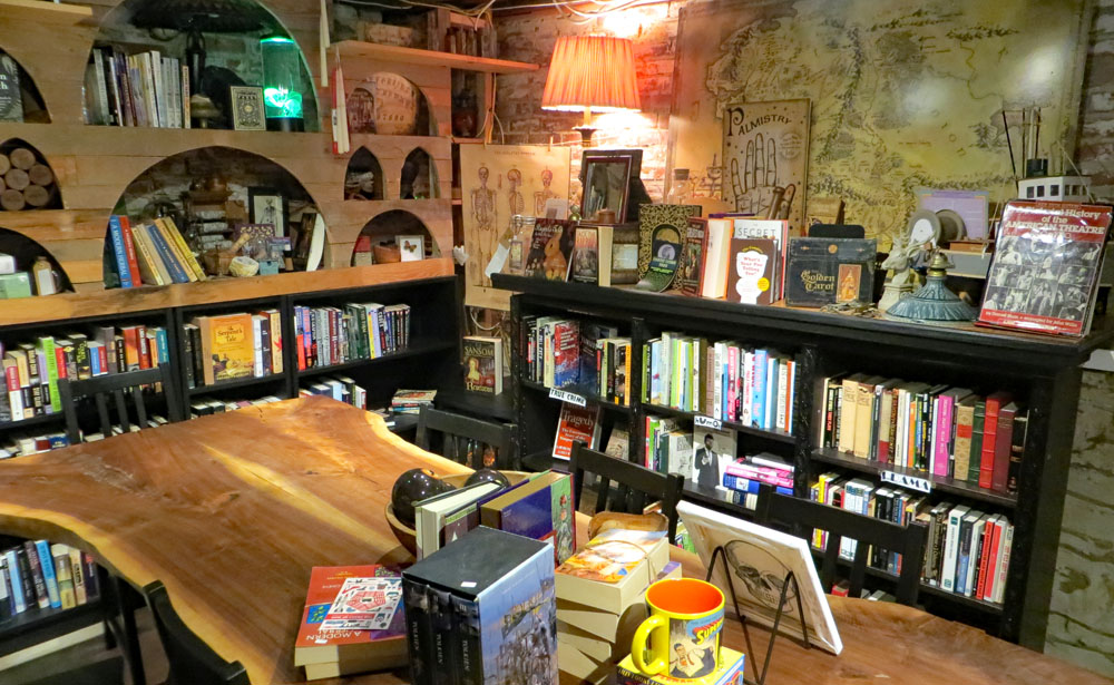 the brown mustache cafe in old fox books